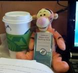 Naturally, Tigger loves coffee.